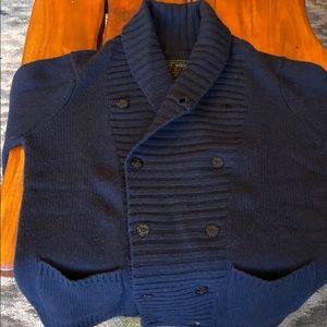 All Saints heavy wool cardigan sweater